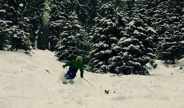 Kirkwood - 9 year old Evan from Killington VT skiing the pow at kirkwood 11/25.  Awesome day!!! - ©Anonymous