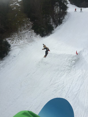 Sunday River - Snow sucks, really crowded.  Website is misleading.  Jump sucks.  - ©shred master 420