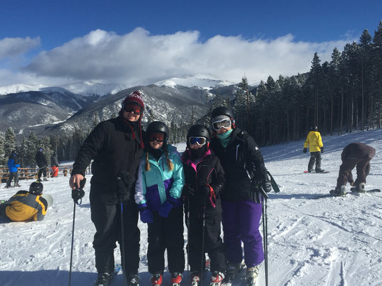 Keystone - Beautiful day with perfect conditions! A little busy on the greens, but blues are wide open! - ©Craig's iPhone 6