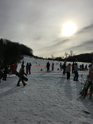 Cataloochee Ski Area - Was there all day yesterday, Rained a lot, and was slushy in parts. Had upper and lower ohmygosh open tho. All I all a good day for a couple a FL ppl! Not to bad crowds so was nice!  - ©iPhone