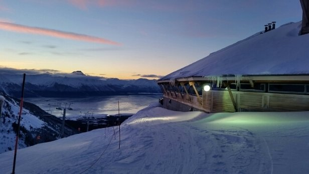Alyeska Resort - ready for night skiing at the tram station!! - ©whatsupkai