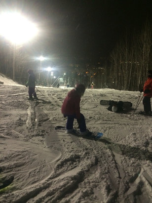 Mont Saint-Sauveur - Loads of snow tonight!! - ©nicole.baker's iPhone