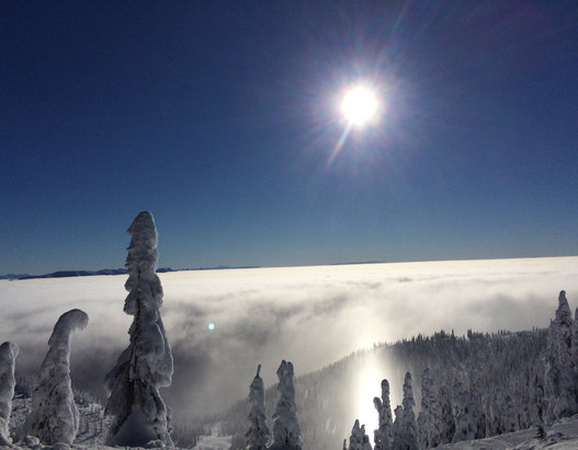 Whitefish Mountain Resort - Amazing inversion today!   - ©snowon