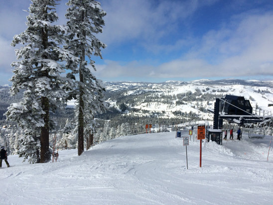 Sugar Bowl Resort - Beautiful day, snow was firm but predictable with no ice.  Still some fresh tracks to be had in places and they are nice and light  - ©HPhone