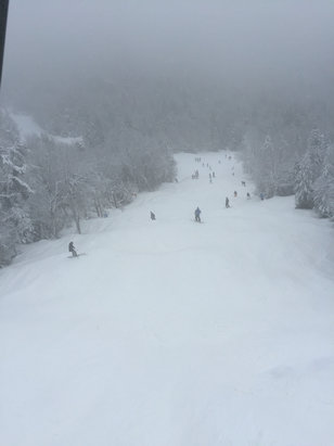 Gore Mountain - Hawkeye is open but not groomed. Conditions were great on Headwaters and Twister. Finally!  - ©iPhone (3)