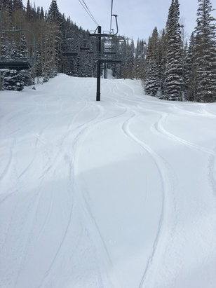 Park City - Fresh 6 on most of the mountain after yesterday's 3 equals bliss  - ©Macintosh User's iPhone