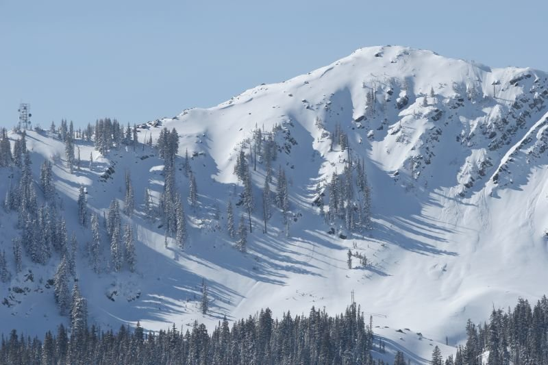 A view of the Empire Canyon Chutes in Deer Valley Resort, Utah