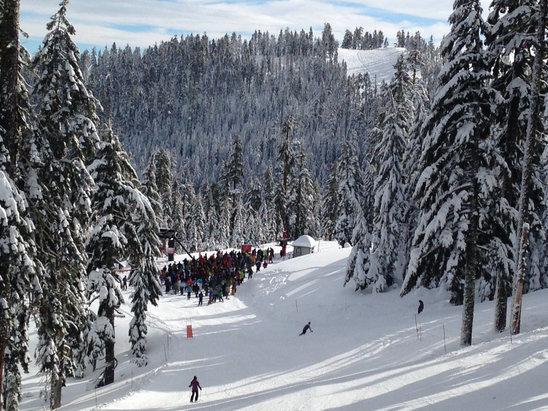 Mount Ashland - MLK day, bluebird and pow - ©PC's iPhone