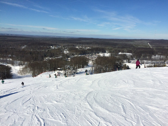 Caberfae Peaks - 1st time at Caberfae. Fun day of skiing for a great price. Used on line reservation for lift ticket and ski rental for additional savings. Very busy with some long lines at lifts.  - ©Scott's iPhone (2)