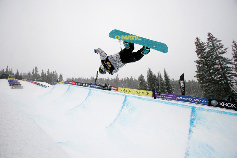 Louie Vito at Copper, CO US Snowboarding Grand Prix .