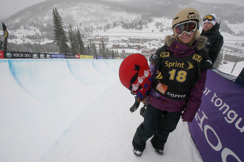 Gretchen Bleiler at Copper, CO US Snowboarding Grand Prix .