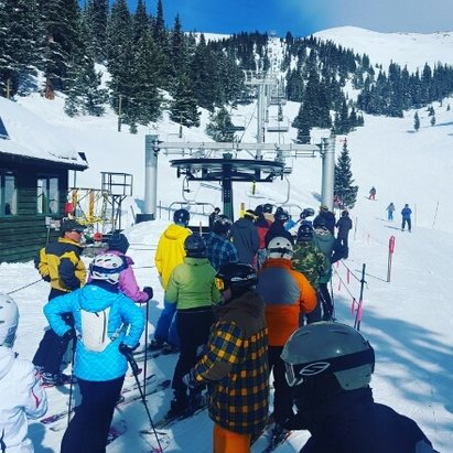 Arapahoe Basin Ski Area - Zuma Lift was having some issues, but nothing crazy. Bluebird at A-Basin is rare, so enjoy it while you can.  - ©dunston540