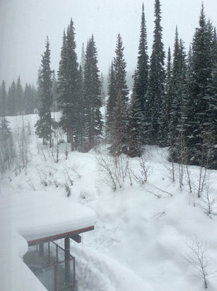 Sun Peaks - Light snow today. Hoping for a snowy night.  - ©Keith's iPad