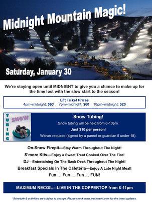 Wachusett Mountain Ski Area - Firsthand Ski Report - ©DWB-iPhone