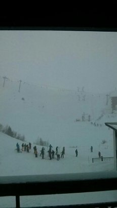 Les Arcs - fresh snow this morning. Limited visibility. will be better tomorrow - ©Aurreth