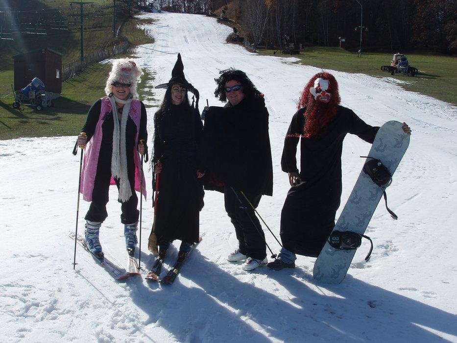 Halloween visitors to Wild Mtn., MN.