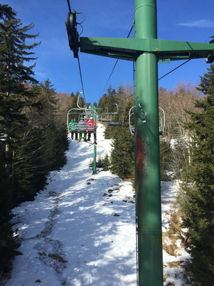 Snowshoe Mountain Resort - Decent. Very minimal lines both Saturday and Sunday, possibly because of the super bowl. Natural snow for the trees is getting thin but plenty of man made on the marked slopes. - ©Crit