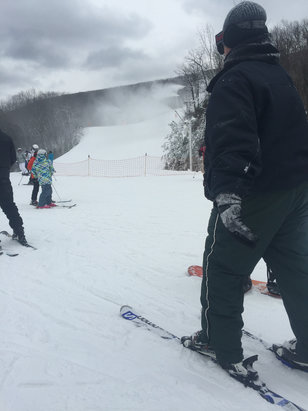 Camelback Mountain Resort - Great day out Friday, good job Camelback with snowmaking this warm winter!!! Machine made snow, almost all runs open, let's just get all the lifts open please, see you Monday.  - ©JC