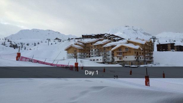 La Plagne - Firsthand Ski Report - ©Matthew's iPhone
