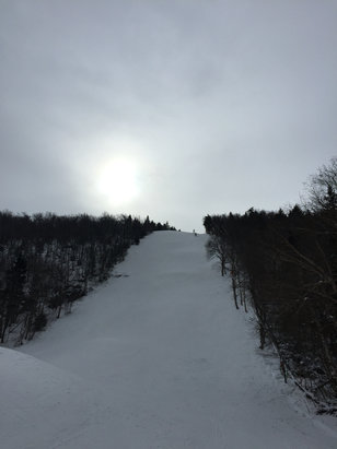 Mount Snow - Very good snow on Ripcord! Hard pack but nice quick turns.  Not too crowded for holiday.. Snow is really good (being almost completely manmade). Great time.  - ©SkiBum