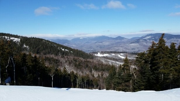 Sunday River - not bad considering the lack of snow.  Hard packed..ice in some spots.  Decent skiing for the most part - ©runningman262run