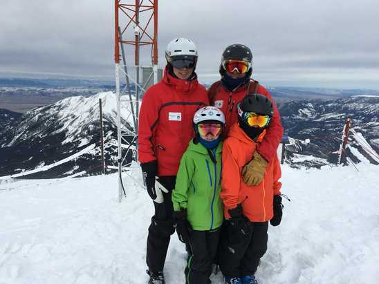Big Sky Resort - Awesome conditions this afternoon post-snow. Great for rippers large and small.  - ©Davis Family