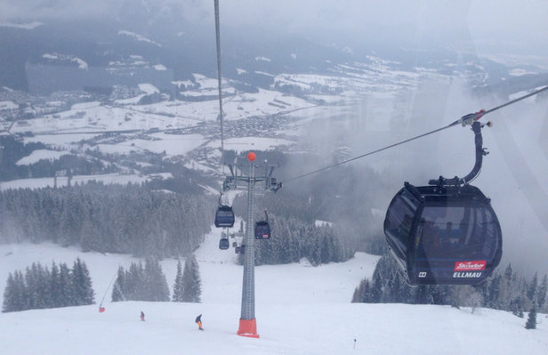 Ellmau - SkiWelt - Good snow conditions have been marred by poor and very poor visibility due to low cloud. It looks like the situation will improve in the next few days. - ©Nick