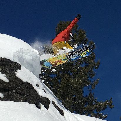 Tamarack Resort - Sick lines backcountry at Tamarack.  @libtech #snowboardidaho  - ©Chris iphone 6s