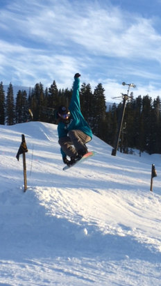 Boreal Mountain Resort - Most of the areas are powdery, only few spots are hard, which I fell on. Lol  - ©Ash the hulk