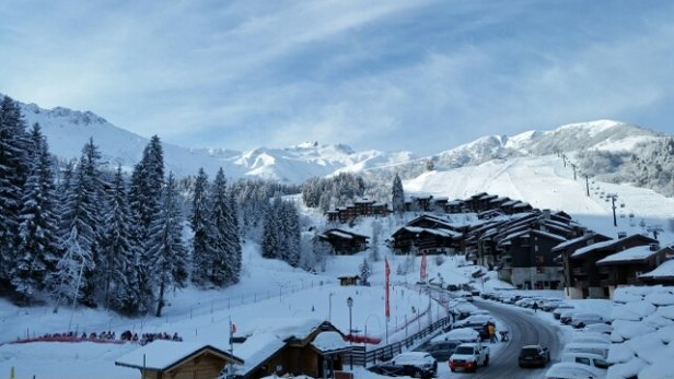 Valmorel - Looks like it will be a nice day today. Snowed last night. Clear skies at moment. - ©UK Gary
