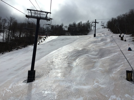 Windham Mountain - Went yesterday 3/2 and it was straight ice in every trail that was open.. Ice skates would've been more appropriate. Hopefully ice coast will fair better next season.  - ©THERESE's iPhone