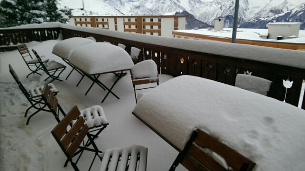 Alpe d'Huez - Stopped snowing now and visibility is good. Should be a great day. - ©williams1608.dw