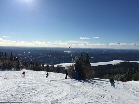 Tremblant - Fantastic day on the hills. Great coverage. No ice. Blue sky's.  Full sun. - ©Jolene's iPhone