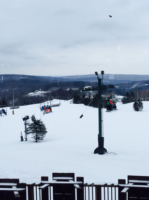 Seven Springs - Great day! Snow in good shape a few bare spots on the back. - ©Bryan Schuetz's iPhone