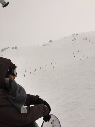 Baqueira - Beret - Puff!! Mais du vent et du brouillard...  - ©iPhone
