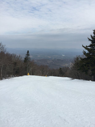 Stratton Mountain - Today  was great - spring conditions great grooming got a little too soft in the afternoon when temps got into 50.... They are doing a great job at Stratton - Kudos to the groomers - ©iPhone