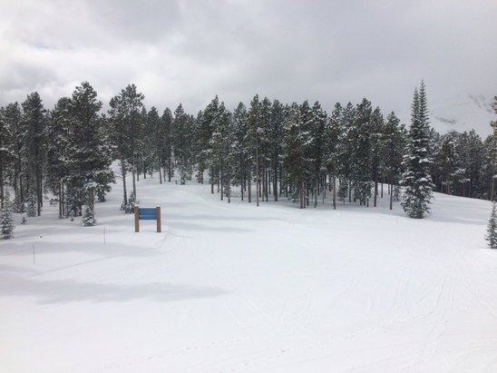 Big Sky Resort - Great snow cover from recent much-welcome snowfalls. Some icy patches here and there but excellent skiing conditions overall. No lift lines, quiet trails, beautiful place. - ©Matt
