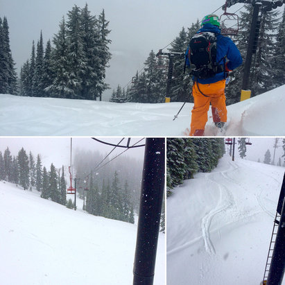 Silver Mountain - Rain in the early morning turned to snow and fresh pow was everywhere!  - ©Katherine's iPhone