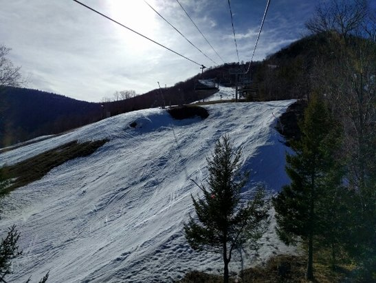Hunter Mountain - Spring conditions Friday. k27 is toast. West was closed today - ©CNYSkier