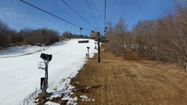 Mount Snow - coverage is getting sparse, but decent spring conditions by mid morning. - ©michael.bonaldo
