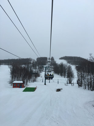 Tremblant - Wet slushy snow. Drizzled most of the day.  - ©Shawn's iPhone 6S Plus