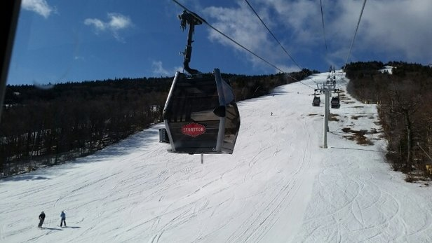 Stratton Mountain - not bad for bad snow season in the northeast spring boarding st. pat day - ©rclim6