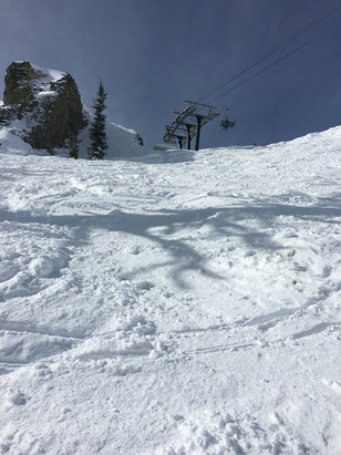 Squaw Valley - Alpine Meadows - A little too mushy in some places but great overall. Bring sunscreen!  - ©iPhone