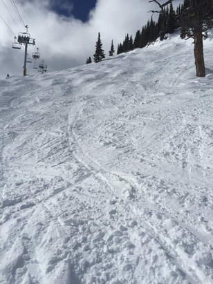 Sunshine Village - The snow is fantastic today!   Good Friday crowds - not so much.  - ©the phone