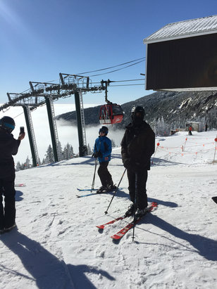 Stowe Mountain Resort - Bluebird day and surprisingly nice Spring conditions! - ©Tony's iPhone6+