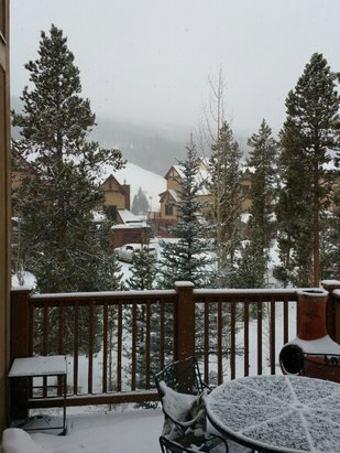 Keystone - It's snowing at Keystone today. About an inch overnight. Hopefully the outback got more.  - ©Bob
