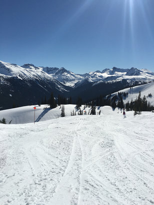 Whistler/Blackcomb - Amazing sunny conditions-- still lots of snow at the top and mid mountain- slushy at the bottom- worlds best resort by some margin - ©Gary I phone