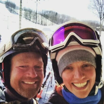 Boyne Mountain Resort - Snow in April! Fresh groom even till 4:30pm on some runs. Need gear? Check out Scott's Discount Skis and Snowboards in Jenison, Michigan. - ©amybaas