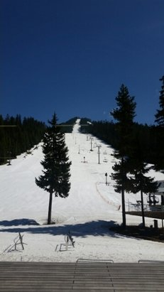 Willamette Pass - great spring skiing, good snow coverage on the backside, some dirt spots on the frontside - ©olafcoffey42