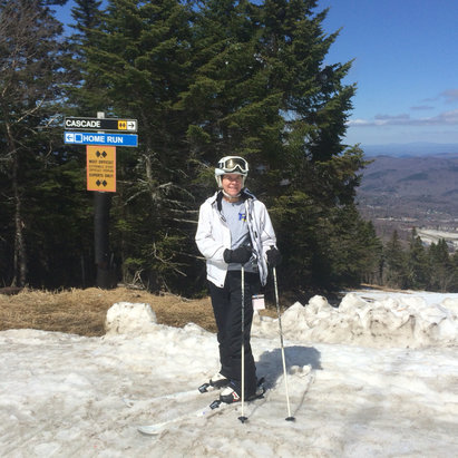 Killington Resort - Linda says free lunch and a good hike to cascade will fix u right up , happy turns  - ©iPhone